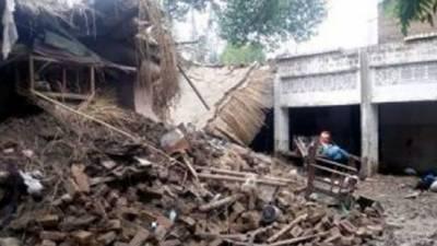 مردان میں مکان کی چھت منہدم ہونے سے 2بچے جاں بحق
