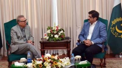صدر کی سندھ میں جاری منصوبوں کی جلدتکمیل کی یقین دہانی