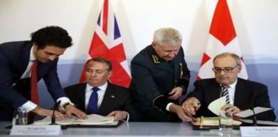 یورپی یونین سے انخلا کےبعدبرطانیہ اور سوئٹزر لینڈ کے تجارتی معاہدے پر دستخط