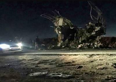 ایران:پاسداران انقلاب کی بس پر خودکش حملہ، 20 اہلکار جاں بحق