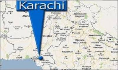کراچی: چندریگر روڈ پر بینک میں آگ لگ گئی