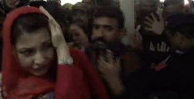 لاہور: جناح اسپتال آمد پر دھکم پیل، مریم نواز کے سر پر کیمرا لگ گیا