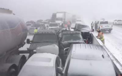 کینیڈا: ہائی وے پر 70 گاڑیاں آپس میں ٹکرا گئیں