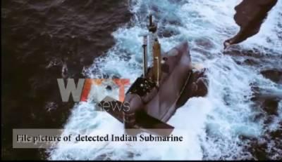 پاک بحریہ نے اپنے سمندری زون میں موجود بھارتی آبدوز کا سراغ لگا لیا ۔