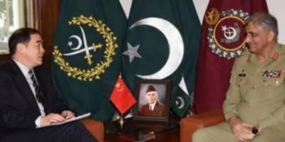 آرمی چیف جنرل قمر جاوید باجوہ سے چین کے نائب وزیر خارجہ کی ملاقات, باہمی دلچسپی کے امور ,علاقائی سلامتی اور دوطرفہ تعاون پر تبادلہ خیال