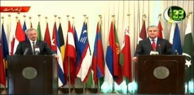 پاک بھارت کشیدگی میں کمی کے لیے یورپی یونین کے شکر گزار ہیں: وزیر خارجہ