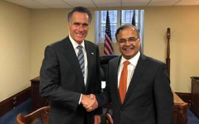 پاکستانی سفیرنے امریکی سینیٹر کو پاک بھارت کشیدگی کے تناظر میں علاقائی صورتحال سے آگاہ کردیا