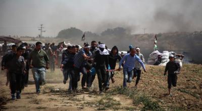 غزہ میں اسرائیلی فوج کی فائرنگ سےایک فلسطینی شہید،درجنوں زخمی