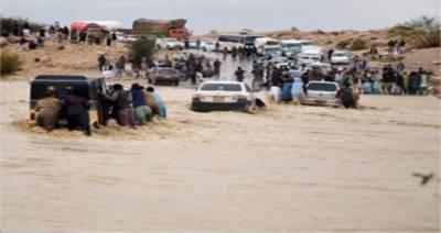 بلوچستان میں بارش،سیلابی ریلوں کاخطرہ