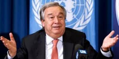 سیکرٹری جنرل اقوام متحدہ کاشا م میں داعش کے آخری مضبوط گڑھ میں شہریوں کے تحفظ پر تشویش کا اظہار