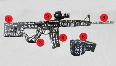 نیوزی لینڈ مساجد حملہ آورکے اسلحے پر کیا عبارت درج تھی؟