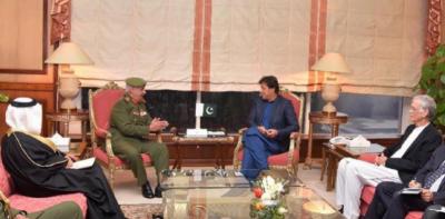 وزیراعظم عمران خان سے کمانڈر بحرین نیشنل گارڈ شیخ محمد بن عیسیٰ کی ملاقات