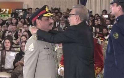 یوم پاکستان: ایوان صدر میں تقسیمِ سول و عسکری اعزازات کی تقریب،ڈی جی (آئی ایس پی آر) میجر جنرل آصف غفور کے لیے ہلال امتیاز کا اعزاز