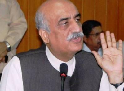 حکومت ڈھول بجا کر بتا رہی ہے کہ پاکستان کو قرضہ مل رہا ہے:خورشید شاہ