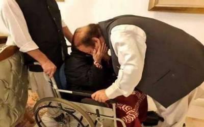 جیل سے رہائی کے بعد نوازشریف کی جاتی امرا میں والدہ سے ملاقات