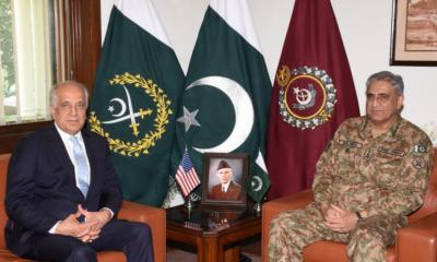 آرمی چیف سے امریکی نمائندہ خصوصی برائے افغان امن عمل کی ملاقات