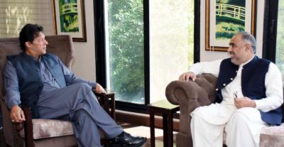 وزیراعظم سے قومی اسمبلی کے سپیکر اسد قیصر کی ملاقات