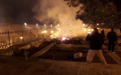 مسجد اقصی کے محافظوں کے کمروں میں آگ لگ گئی، سامان جل کر خاکستر