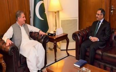 وزیرخارجہ شاہ محمودقریشی سے سیکرٹری خارجہ سہیل محمود کی ملاقات