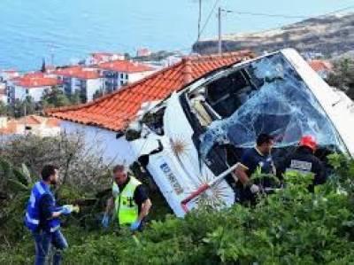 پرتگال:سیاحوں کولے جانے والی بس الٹنے کے واقعے میں29 افرادہلاک