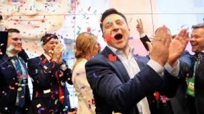 یوکرین میں صدارتی انتخابات، معروف کامیڈین کی جیت کے امکانات روشن
