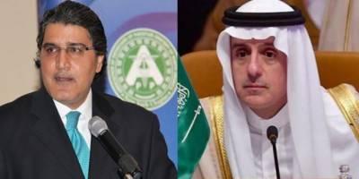 پاکستانی سفیر کی سعودی وزیرخارجہ سے ملاقات، دوطرفہ امور پر تبادلہ خیال