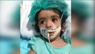 غلط انجکشن لگنے سے دماغی طور پر مفلوج بچی نشوا انتقال کر گئی