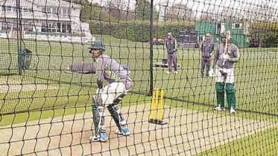 انگلش ٹور:قومی کھلاڑیوں کا بیکنہم میں دوسرا ٹریننگ سیشن