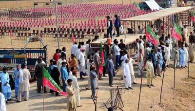 تحریک انصاف کے یوم تاسیس کیلئے کراچی میں جلسہ، تمام تیاریاں مکمل