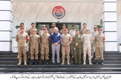 ملٹری پولیس سکول ڈی آئی خان کے14 رکنی آفیسرز وفد کا پنجاب سیف سٹیز اتھارٹی کا دورہ