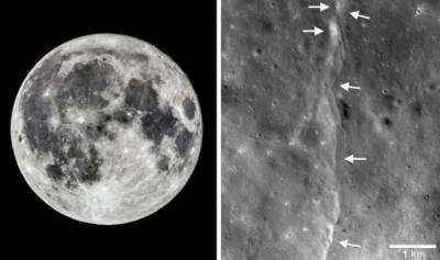 کروڑوں برسوں میں 50 میٹر سے زیادہ سکڑ گیا ہے۔ ناسا