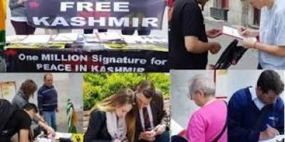 مسئلہ کشمیر پر ایک ملین دستخطی مہم، پولینڈ میں ایک روزہ کیمپ لگایاگیا