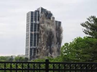 امریکا میں قائم 47 سالہ پرانے مشہور مارٹن ٹاور کو زمیں بوس کر دیا گیا