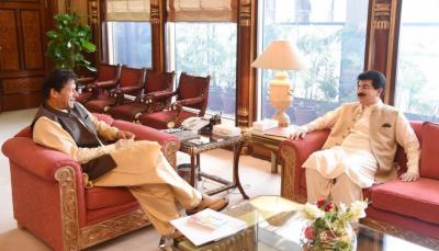 وزیر اعظم عمران خان سے چیئر مین سینٹ محمد صادق سنجرانی کی ملاقات