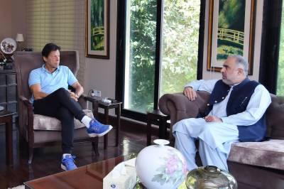 وزیراعظم عمران خان سے اسپیکر قومی اسمبلی اسد قیصر کی ملاقات