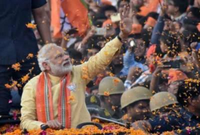 بھارتی انتخابات میں بی جے پی کو واضح برتری، تنہا حکومت بنانے کی پوزیشن میں آگئی
