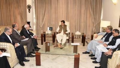وزیراعظم عمران خان سے ایران کے وزیر خارجہ جواد ظریف کی ملاقات