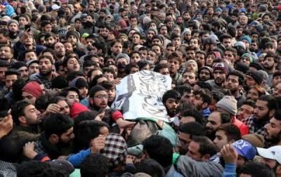 ترال : شہید مجاہد کمانڈر ذاکر موسیٰ کی نماز جنازہ ادا،بڑی تعداد میں لوگوں کی شرکت