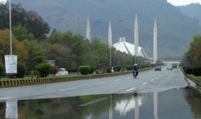 اسلام آباد سمیت متعدد علاقوں میں بارش، موسم خوشگوار