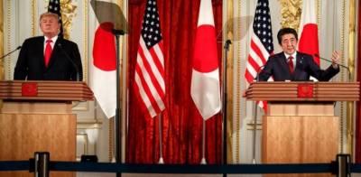 چاند اور مریخ پر ساتھ جائیں گے: ٹرمپ اور جاپانی وزیر اعظم کی پریس کانفرنس
