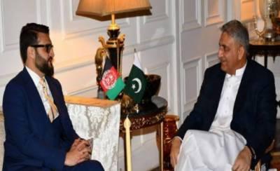 آرمی چیف جنرل قمرجاوید باجوہ سے افغان مشیرِقومی سلامتی کی ملاقات