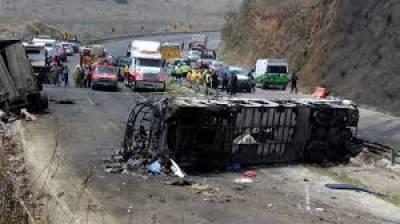 میکسیکو:بس حادثے میں 20 افرادہلاک