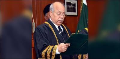 جسٹس گلزاراحمد نے قائم مقام چیف جسٹس کے عہدے کا حلف اٹھالیا