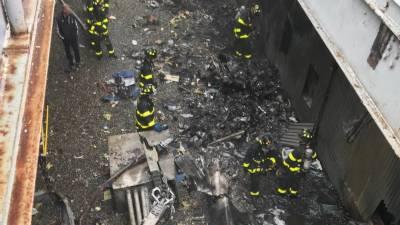نیویارک : مین ہیٹن میں ہیلی کاپٹر عمارت سے ٹکرا گیا،ایک شخص ہلاک
