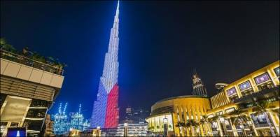 فلپائن کا 121 واں قومی دن، برج خلیفہ فلپائنی پرچم کے رنگ میں رنگ گیا
