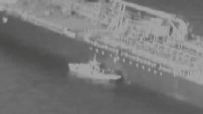 امریکی فوج نے تیل بردار بحری جہازوں کےقریب ایرانی کشتی کی فوٹیج جاری کردی