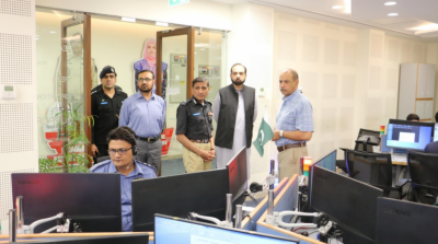 آئی جی گلگت بلتستان ثنااللہ عباسی کی پنجاب سیف سٹیز اتھارٹی ہیڈ کوارٹر آمد