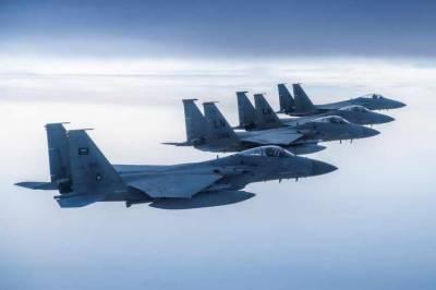 سعودی فضائی ڈیفنس فورس نے حوثی باغیوں کے دو ڈرون مار گرائے۔
