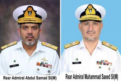 پاک بحریہ کے دو کموڈورز کی ریئر ایڈمرل کے عہدے پر ترقی