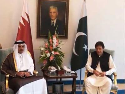 وزیراعظم عمران خان اور امیر قطر شیخ تمیم بن حمد الثانی کی ون آن ون ملاقات ، تجارت، منی لانڈرنگ سمیت مختلف یادداشتوں پر دستخط